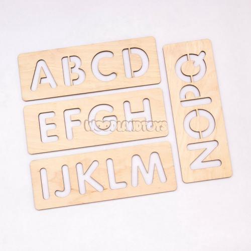 Трафареты для письма, Алфавит англ, 120107