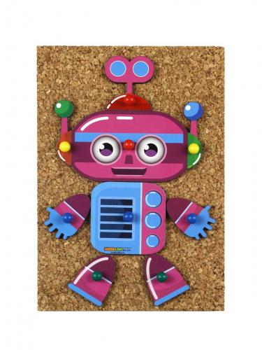 Конструктор Веселые гвоздики «Роботы», 118107