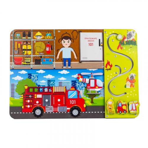 Бизиборд «Пожарная служба»,112305