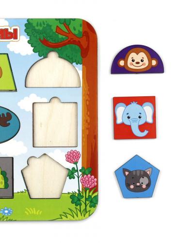 Рамки-вкладыши «Изучаем формы. Животные», 150106