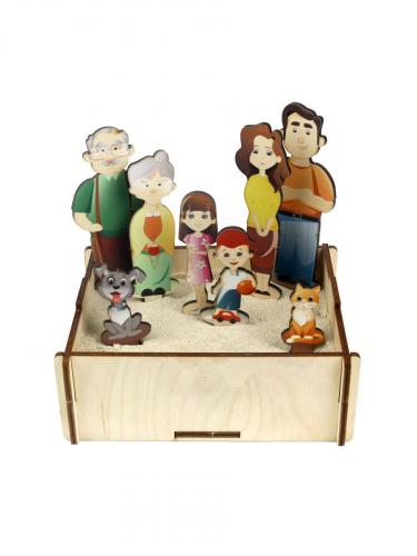 Набор для песка «Семья», 143201