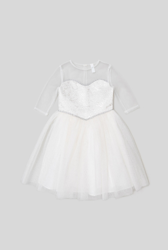 Платье детское для девочек Caroline молочный. ACOOLA