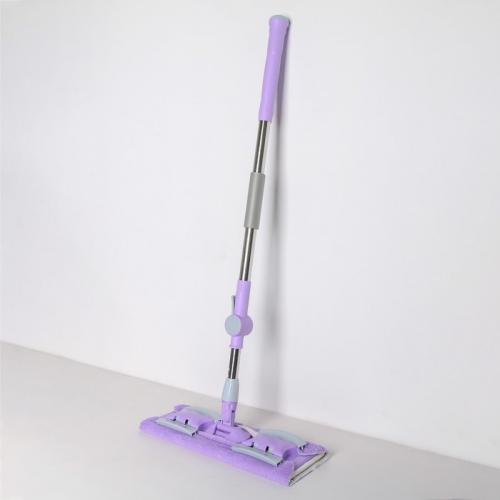 Швабра плоская, усиленная телескопическая ручка 92-132 см, 2 насадки из микрофибры
