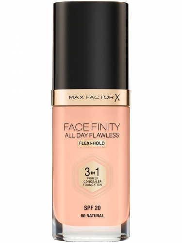 MF тон.основа Facefinity All Day Flawless 3-in-1 т.50  natural