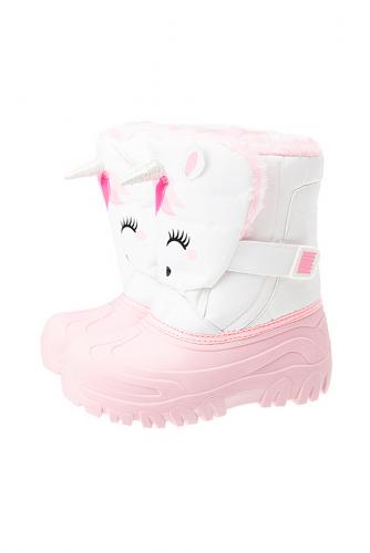 Сапоги #238751Белый, светло-розовый