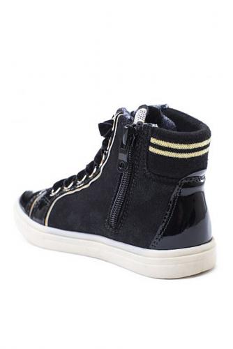 Ботинки #104621Черный/Золотой