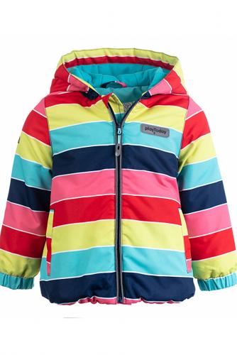 Куртка #126033Голубой/Синий/Красный