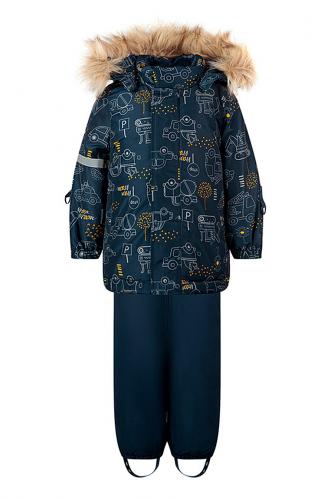 Комплект (Полукомбинезон+Куртка) #238900Темно-синий