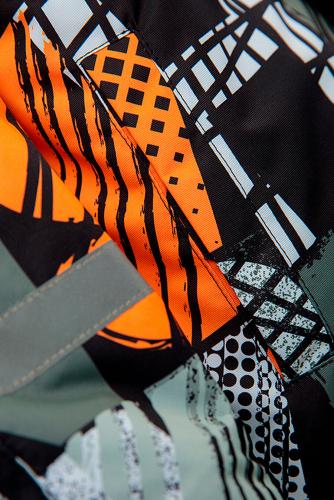 Куртка #238718Черный, серый, оранжевый, белый.