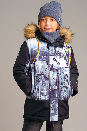Куртка #238423Черный,серый
