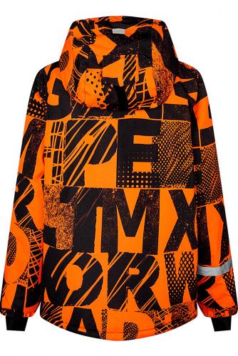 Комплект (Куртка+Комбинезон) #241469Черный, оранжевый