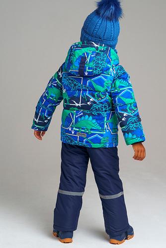 Комплект (Куртка+Полукомбинезон) #238725Темно-синий, синий, зеленый.