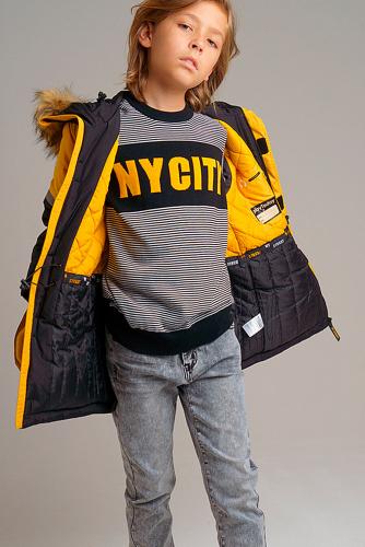 Куртка #238422Черный,желтый
