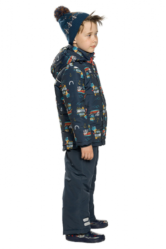 Комплект (Полукомбинезон+Куртка) #146093Темно-синий