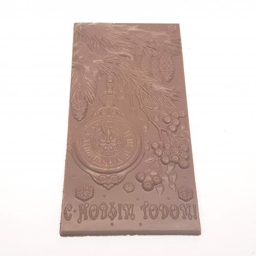 Шоколадная плитка Ель с часами