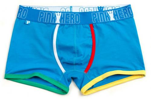 Мужские трусы Pink Hero гоубые / разноцветные края PH1227-2