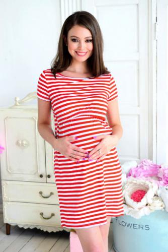 Платье-футболка для беременных и кормящих Код товара: 1978