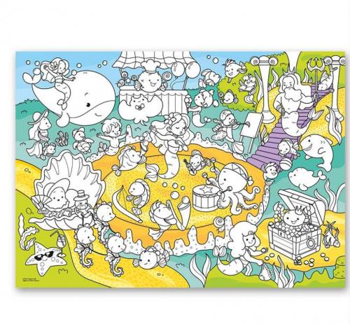 Раскраска-плакат ГЕОДОМ В океане, для малышей