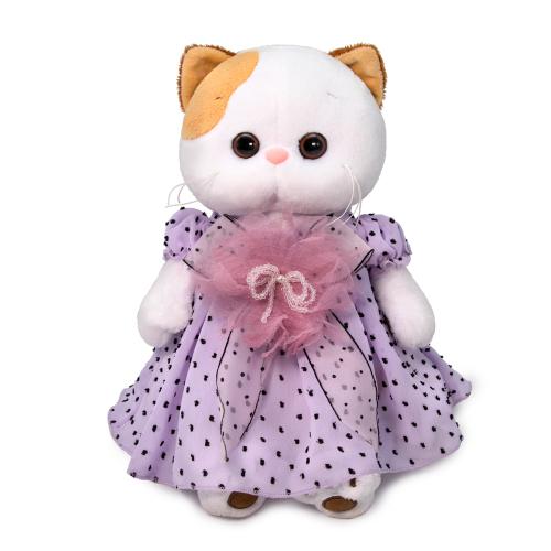 Мягкая игрушка BUDI BASA Ли-Ли в нежно-сиреневом платье 27 см