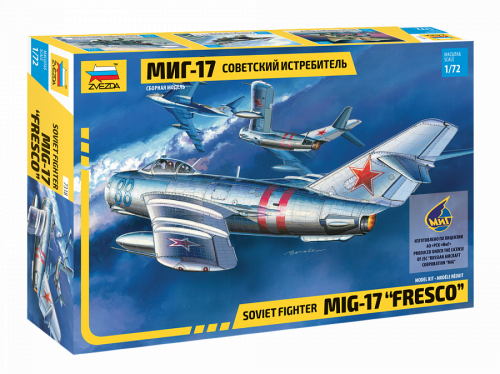 Сборная модель ZVEZDA Советский истребитель Миг-17