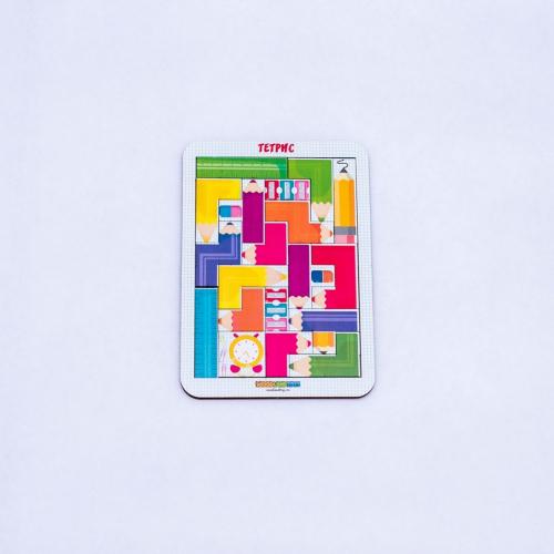 Логическая игра WOODLANDTOYS Тетрис малый Цветные карандаши
