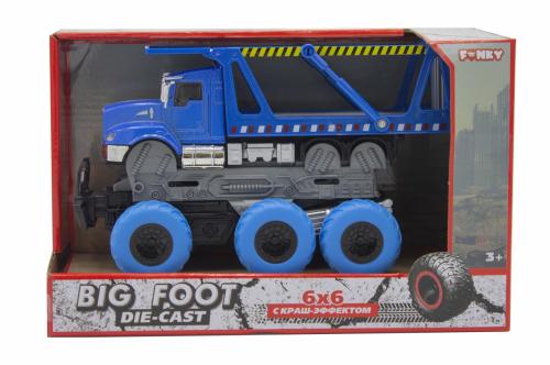 Машина пластиковая FUNKY TOYS Транспортер с краш-эффектом, кабина die-cast, 6*6