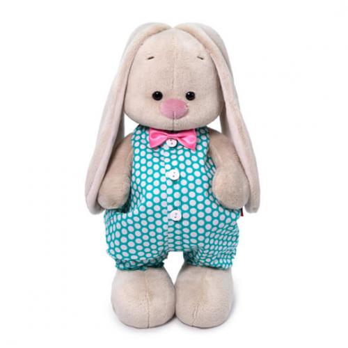 Мягкая игрушка BUDI BASA Зайка Ми в изумрудном комбинезоне 32 см