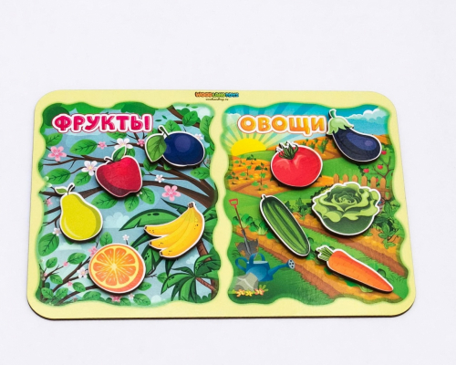 Обучающий набор WOODLANDTOYS Фрукты-овощи