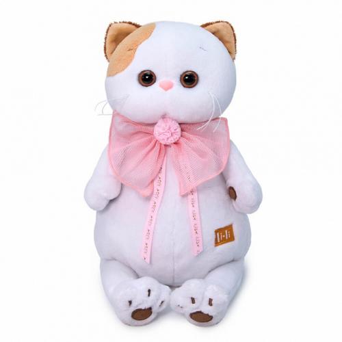 Мягкая игрушка BUDI BASA Ли-Ли с розовым бантом 27 см