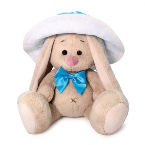 Мягкая игрушка BUDI BASA Зайка Ми в голубой панаме 15 см
