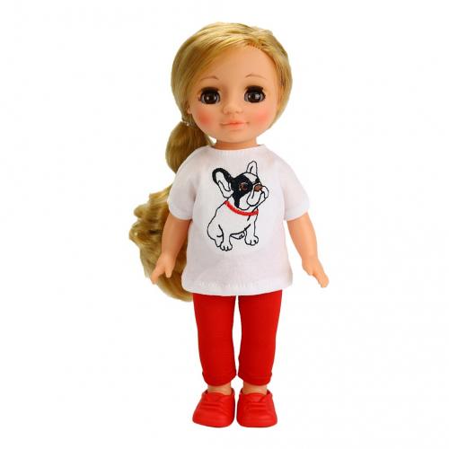 Кукла ВЕСНА Ася с бульдожкой