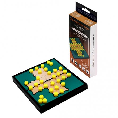 Настольная игра ORIGAMI Солитер (магнитная)