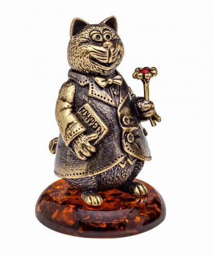 Колокольчик Кот с цветочком 1073