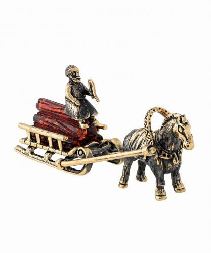 Лошадка с санями 1195
