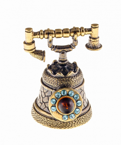 Колокольчик Телефон со стразами 459.1