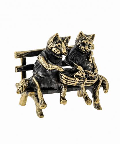 Коты Пара с котятами без подставки 1096.1
