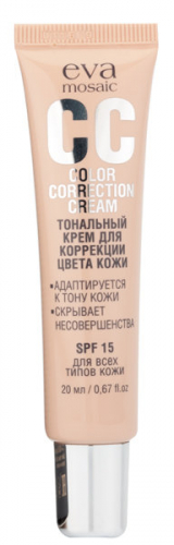 EVA CC - крем  д/коррекции цвета кожи 02, зол-бежевый, 20 мл