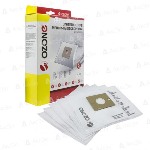 M-24 Мешки-пылесборники Ozone синтетические для пылесоса, 5 шт