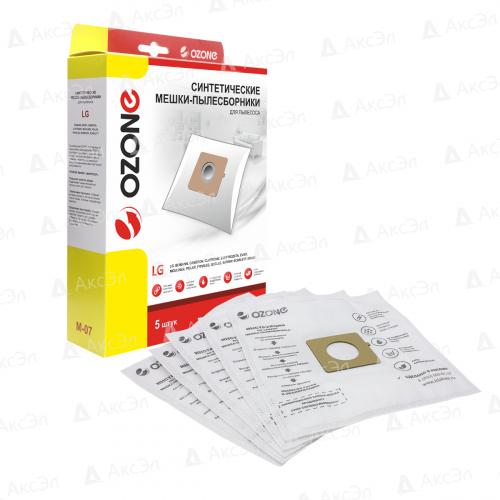 M-07 Мешки-пылесборники Ozone синтетические для пылесоса, 5 шт