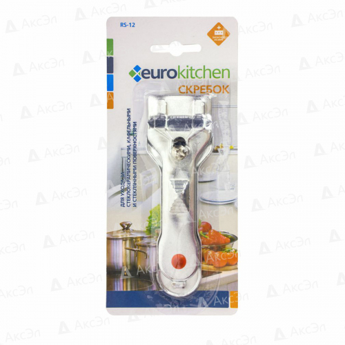 RS-12 Скребок Eurokitchen для чистки стеклокерамики, серебристый