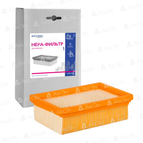 Фильтр складчатый для пылесоса KARCHER, 1 шт., сухая пыль/целлюлоза, бренд: EUROCLEAN, арт. KHPM-MV4