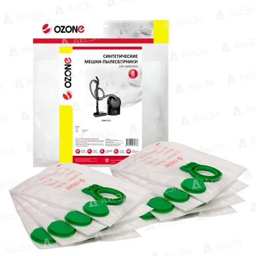 M-63 Мешки-пылесборники Ozone синтетические для пылесоса, 8 шт