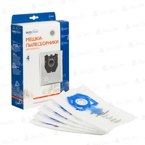 E-54/4 Мешки-пылесборники Euroclean синтетические для пылесоса, 4 шт
