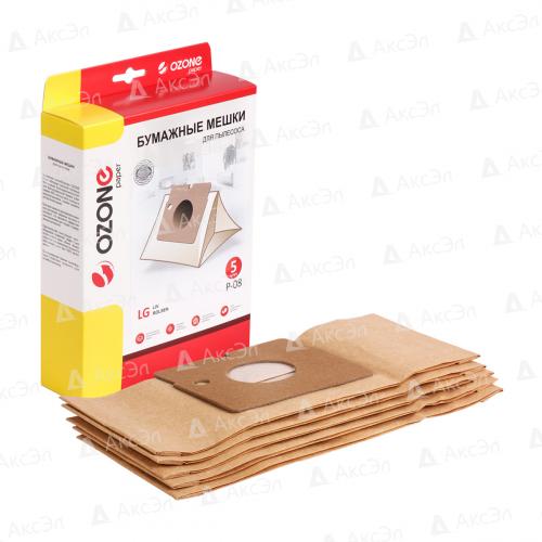P-08 Мешки-пылесборники Ozone бумажные для пылесоса, 5 шт