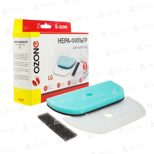 Набор микрофильтров для пылесоса LG, губчатый фильтр-1 шт., сетчатый фильтр-1 шт., микрофильтр-1 шт., бренд: OZONE, арт. H-27