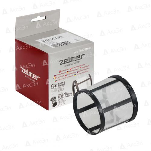 Защитный сетчатый фильтр оригинальный для пылесоса ZELMER, 1 шт., многоразовый моющийся, бренд: ZELMER, арт. 6012010111