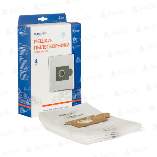 E-52/4 Мешки-пылесборники Euroclean синтетические для пылесоса, 4 шт