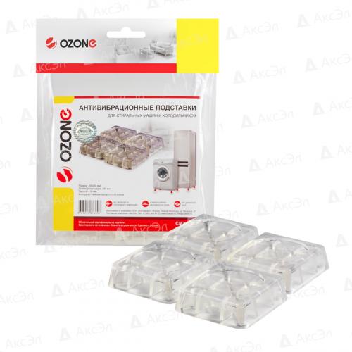 CMA-12T Антивибрационные подставки Ozone, прозрачные квадратные