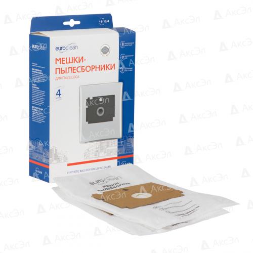 E-12/4 Мешки-пылесборники Euroclean синтетические для пылесоса, 4 шт