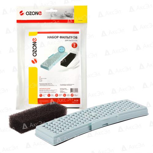 Набор фильтров для пылесоса LG, НЕРА фильтр-1 шт., губчатый фильтр-1 шт., бренд: OZONE, арт. H-29, тип оригинального фильтра: ADQ73254301